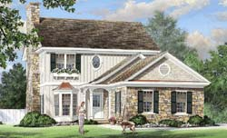 Traditional Style Home Design Plan: 57-353