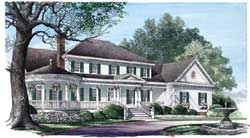 Greek-Revival Style Floor Plans Plan: 57-355