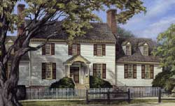 Colonial Style Home Design Plan: 57-356