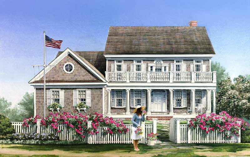 Southern Style Home Design Plan: 57-357