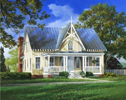 Cape-Cod Style Home Design Plan: 57-360