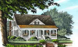Country Style Floor Plans Plan: 57-372