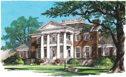 Greek-Revival Style House Plans Plan: 57-374