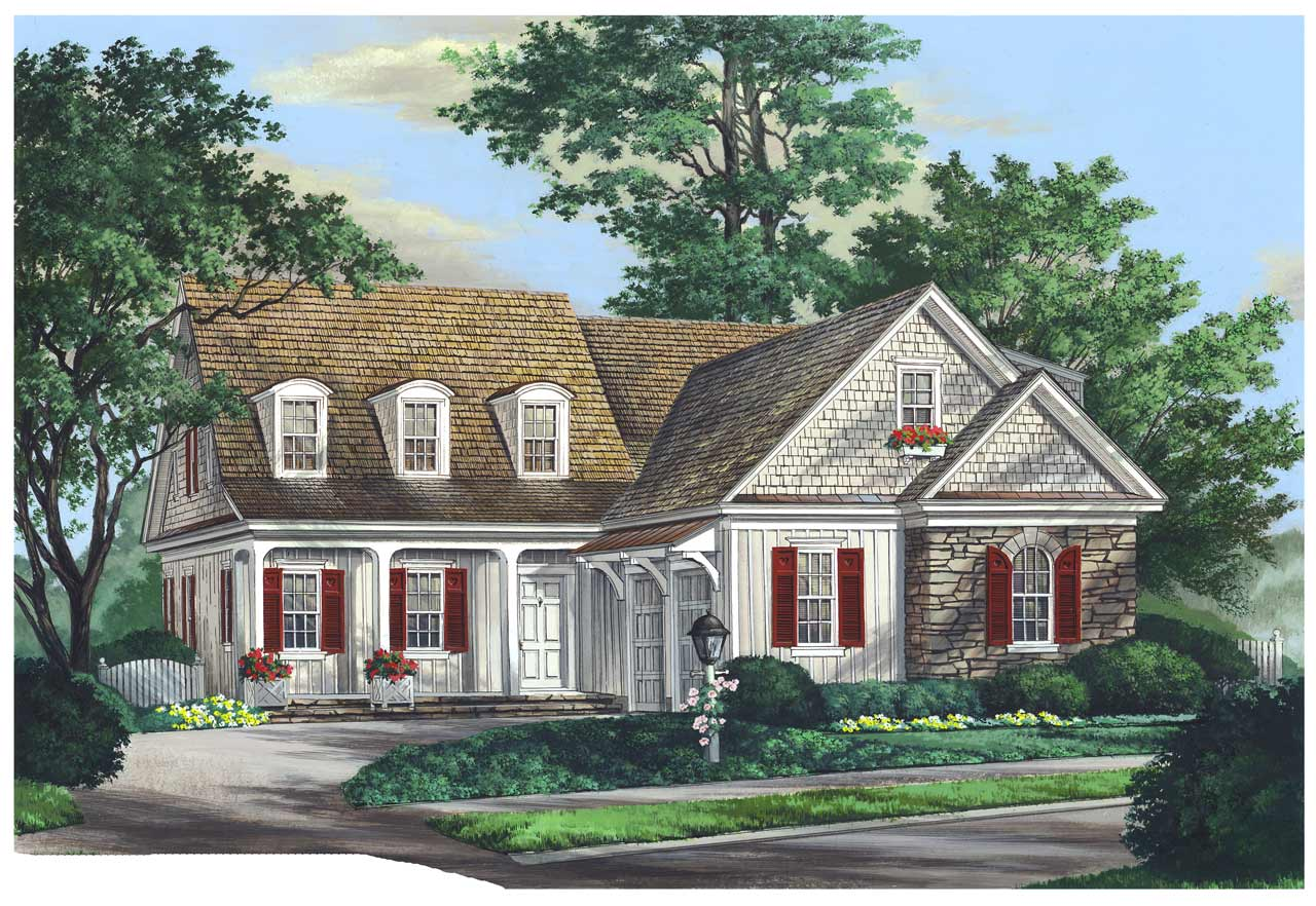 French-country Style Floor Plans Plan: 57-375