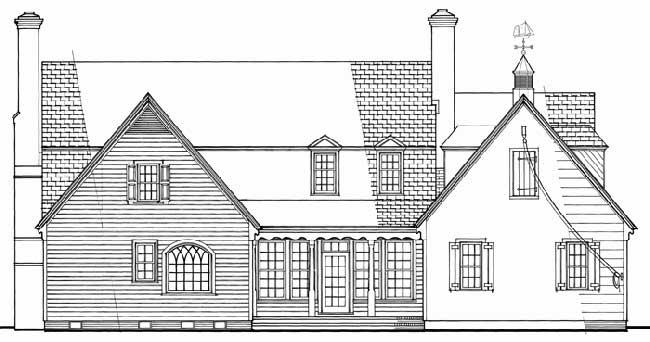 Rear Elevation Plan: 57-382