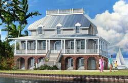 Coastal Style Floor Plans Plan: 57-385
