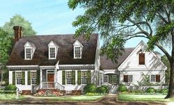 Cape-Cod Style House Plans Plan: 57-406