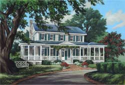 Country Style Home Design Plan: 57-410