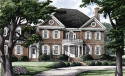 Southern Style Home Design Plan: 57-415