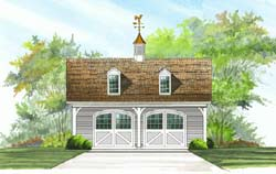 Carriage Style House Plans Plan: 57-417