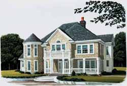 New-England-Colonial Style Floor Plans Plan: 58-107