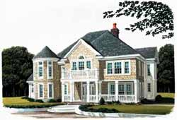 New-England-Colonial Style House Plans Plan: 58-108