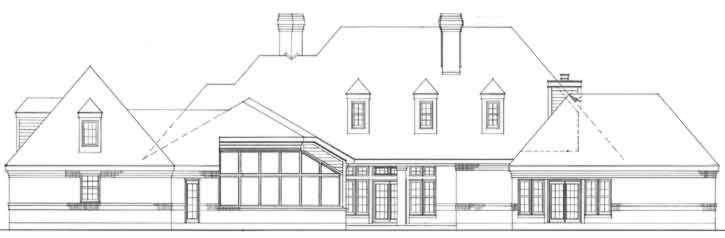 Rear Elevation Plan: 58-110