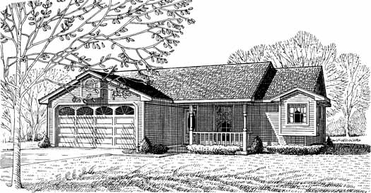 Country Style House Plans Plan: 58-112