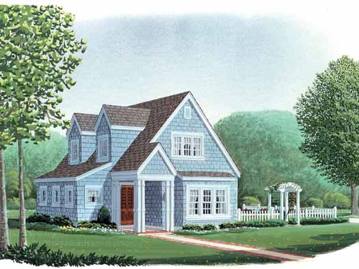 Cottage Style Home Design Plan: 58-118