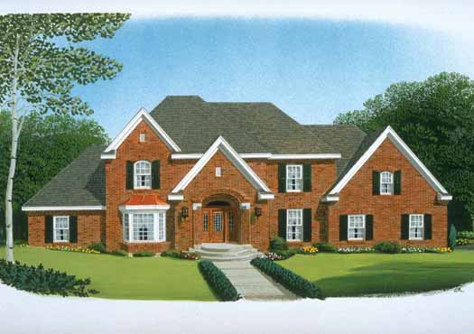 Colonial Style Home Design Plan: 58-120