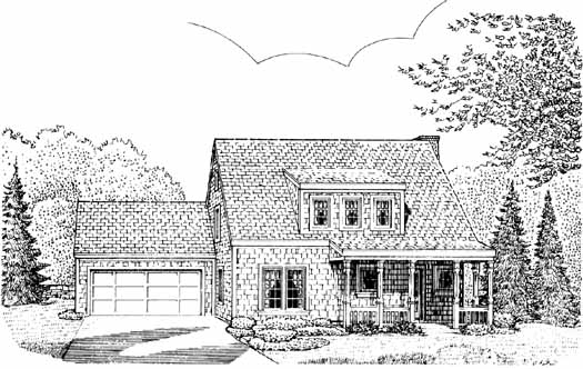 Cottage Style Home Design Plan: 58-127