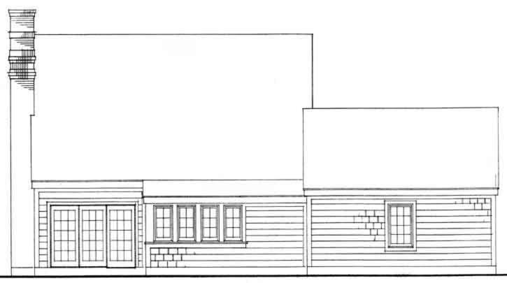 Rear Elevation Plan: 58-127