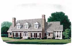Colonial Style House Plans Plan: 58-134
