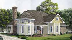 Victorian Style Floor Plans Plan: 58-135