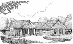 Country Style Home Design Plan: 58-140