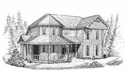 Victorian Style House Plans Plan: 58-152