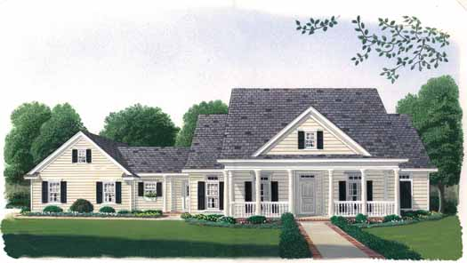 Country Style Home Design Plan: 58-163