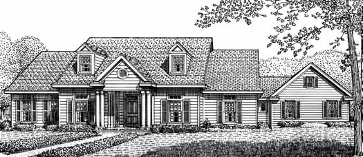 Southern Style House Plans Plan: 58-168