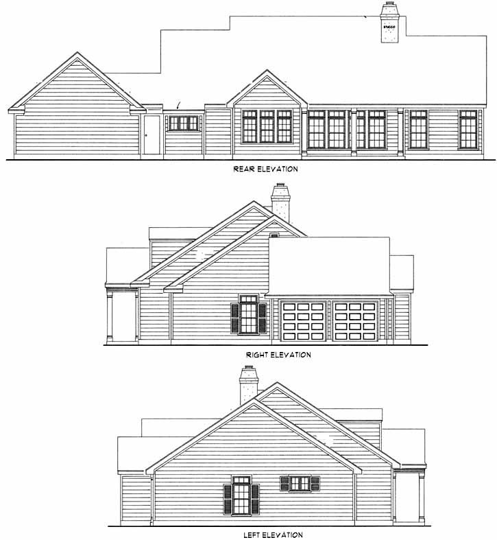 Rear Elevation Plan: 58-168