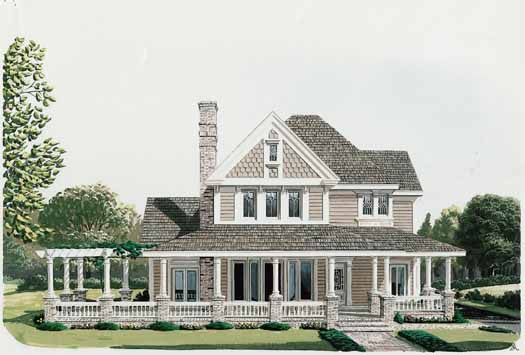 Country Style House Plans Plan: 58-176