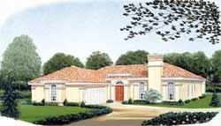 Mediterranean Style Floor Plans Plan: 58-177