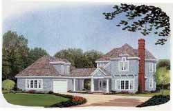 Cape-Cod Style Floor Plans Plan: 58-181