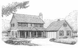Country Style House Plans Plan: 58-189