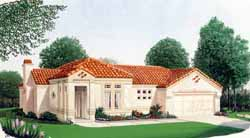 Mediterranean Style Floor Plans Plan: 58-191