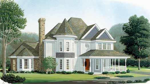 Victorian Style House Plans Plan: 58-195