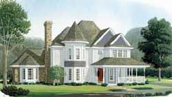 Victorian Style Home Design Plan: 58-195