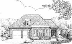 Traditional Style Home Design Plan: 58-221