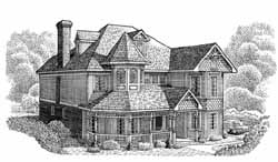 Victorian Style Floor Plans Plan: 58-225