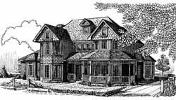 Victorian Style Home Design Plan: 58-228