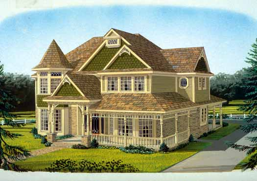 Victorian Style House Plans Plan: 58-233