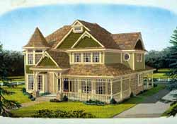 Victorian Style Home Design Plan: 58-233