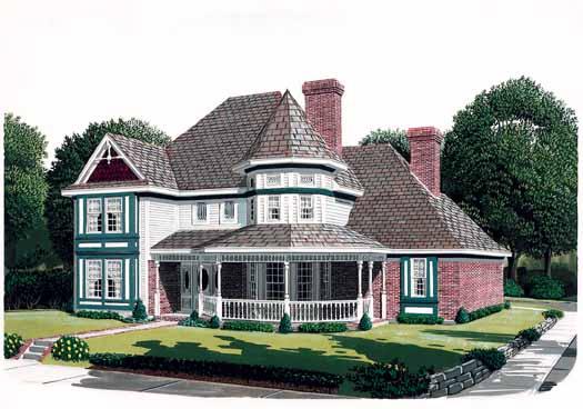 Victorian Style Home Design Plan: 58-235