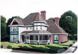 Victorian Style Floor Plans Plan: 58-235