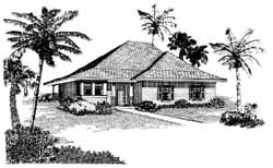 Traditional Style Home Design Plan: 58-236