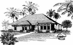 Traditional Style Home Design Plan: 58-241