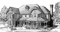 Victorian Style Home Design Plan: 58-249
