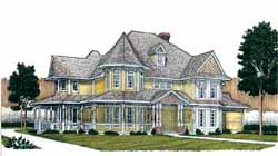 Victorian Style Home Design Plan: 58-256