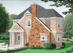 New-England-Colonial Style Home Design Plan: 58-257