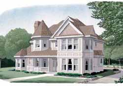 Victorian Style Home Design Plan: 58-259