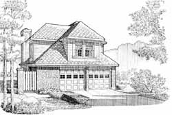Traditional Style Home Design Plan: 58-262